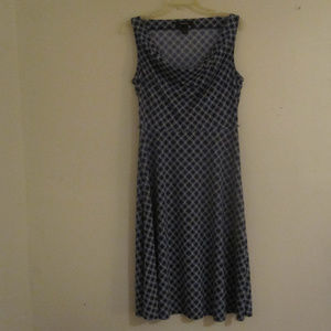 Express Sleeveless Dress Blue with White Sz.13/14